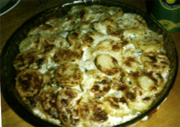 Vegetarian French Cuisine: Roquefort Blue Cheese and Potato Gratin