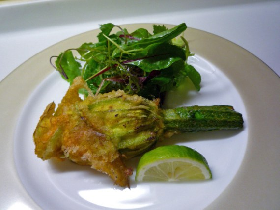 Zucchini Flower Fritters (updated)