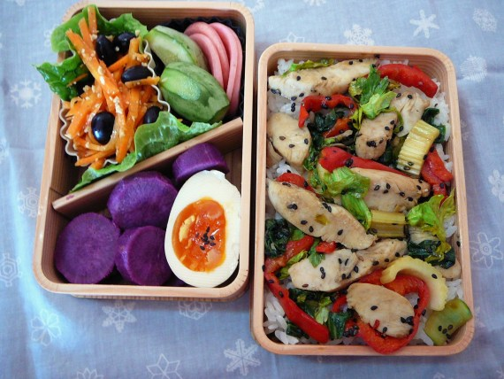 Today's Lunch Box/Bento ('11/13): Smoked Chicken Bento