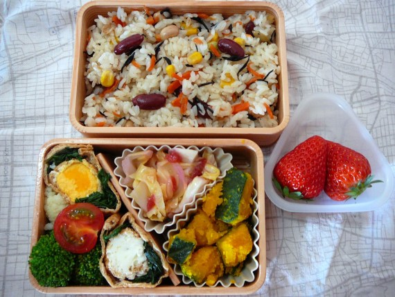 Today's Lunch Box/Bento ('11/16): Square Dance Bento