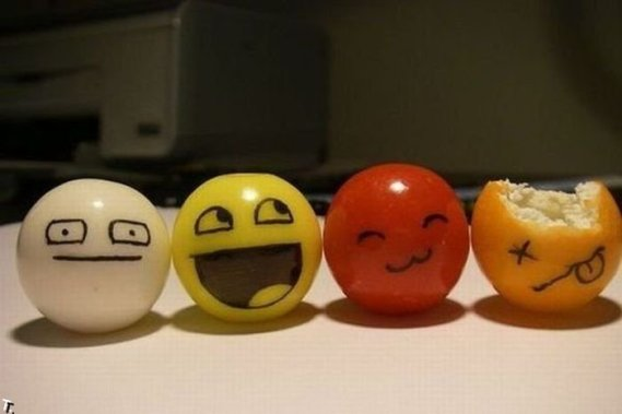 Food Humor: Crazy Smileys!