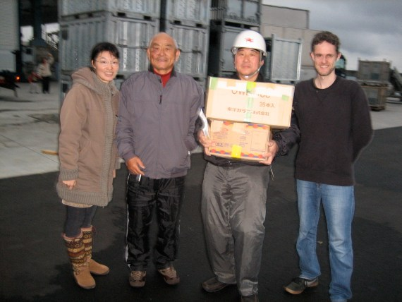 Japan Earthquake and Tsunami (March 2011): Food collected by Mark & Kunie Thornton  have reached Miyagi Prefecture!