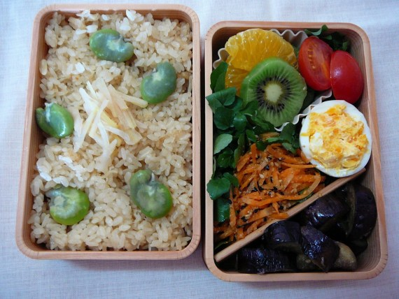 Today's Lunch Box/Bento ('11/22): Scallops & Broad Beans Bento!