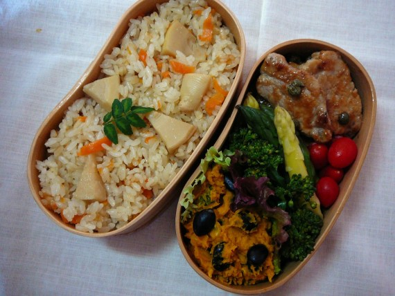 Today's Lunch Box/Bento ('11/26): Bamboo Shoots Bento!