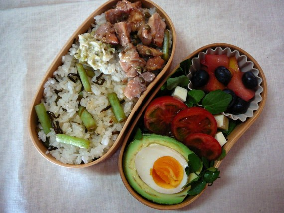 Today's Lunch Box/Bento ('11/28): Wasabi Zuke Bento!