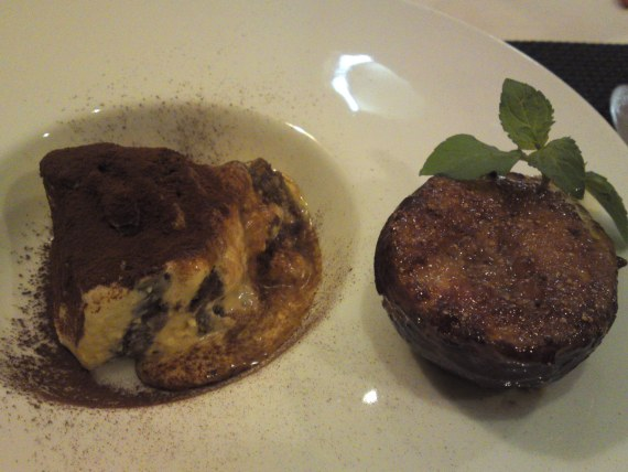 French & Italian Dessert: Mascarpone Tiramisu & Glazed Organic Fig!
