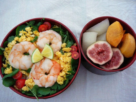 Today's Bento/Lunch Box (11/56): Healthy Prawn Sushi Bento!