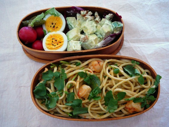 Today's Bento/Lunch Box (11/57):  Cress Udon Bento!