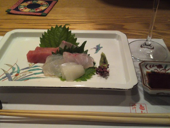 Sashimi Appetizer Plate at Tomii (October 2011)