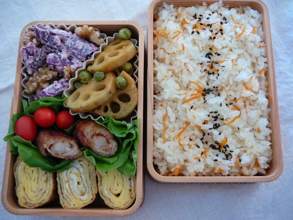 Today's Bento/Lunch Box (11/58): Hesitation Blues Bento!