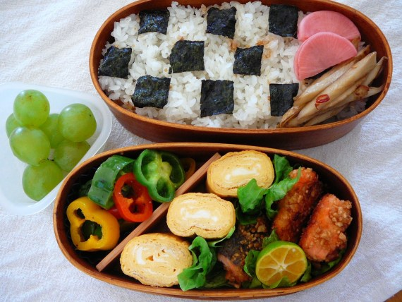 Today's Bento/Lunch Box (11/62): Chess Board Bento!