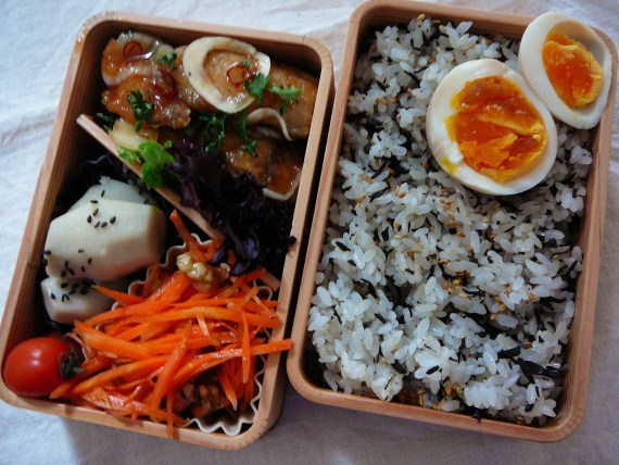 Today's Bento/Lunch Box (12/02): Nanbanzuke Aji/Sweet and Sour Horse Mackerel Bento!