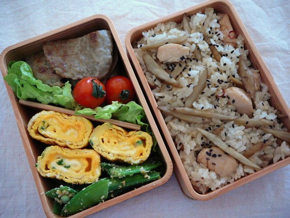 Today's Bento/Lunch Box (12/06): Chicken & Burdock Rice Bento!