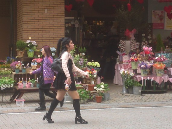 Japanese Ladies fashion in Shizuoka 3: Knee Cap High Stockings!