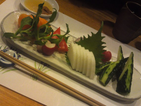 Vegan Sashimi at Yasaitei in Shizuoka City (April 2012)!