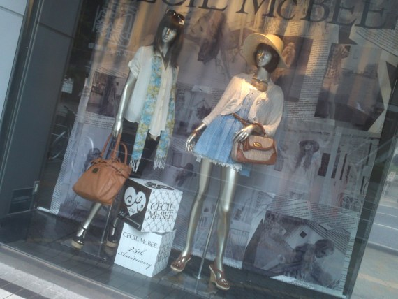 Japanese Ladies Fashion in Shizuoka 43:  CECIL Mc BEE for the Summer?
