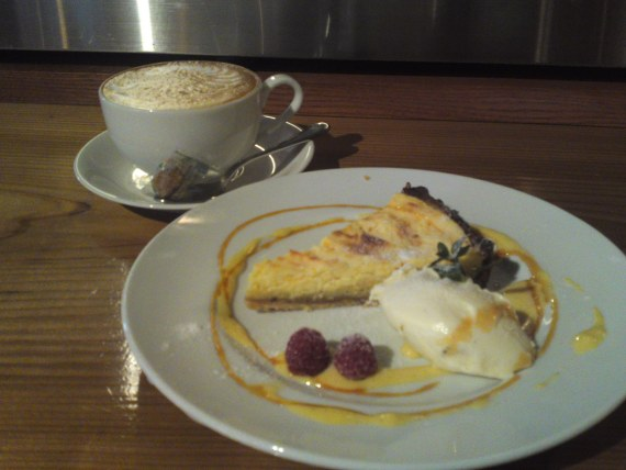 French Cakes: Baked Orange & Cream Cheese cake at Patina in Shizuoka City!
