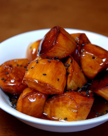 Japanese Vegan Dessert Recipe: Daigaku Imo-Deep-fried Sweet Potatoes in Syrup-大学芋 (Professional Recipe)