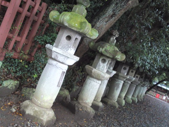 Stone Lanterns at Sengen Shrine in Shizuoka City!
