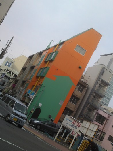 Wall Design: The Genuine one and the Accidental one in Shizuoka City