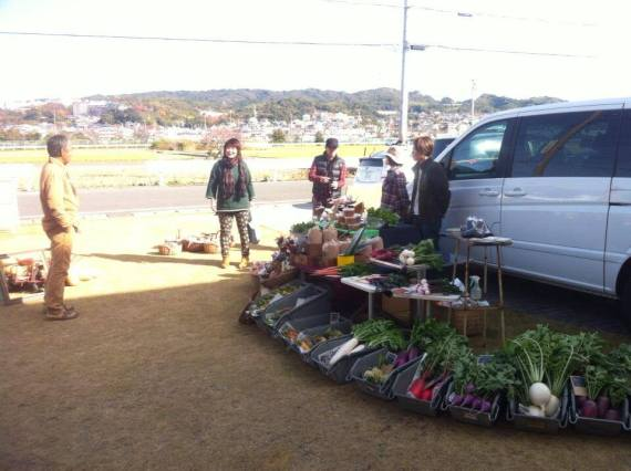 Organic Vegetables by Kitayama Garden at Farmer's Market in D&Department by Taita in Shizuoka City!