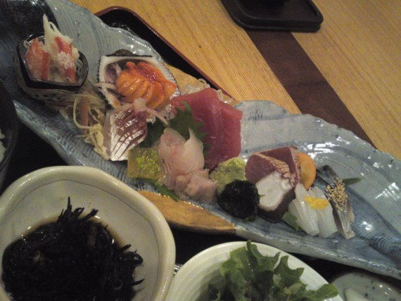 Sashimi Lunch Set at Totoya in Shizuoka City!
