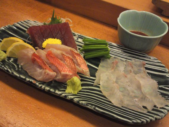 Sashimi Plate at Sushi Ko, Shizuoka City (February 2nd, 2014)!
